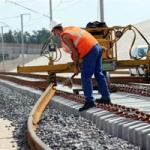 Pose du premier rail du TGV Rhin-Rhône branche Est