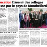 Les années collège : déplacement dans le pays de Montbéliard