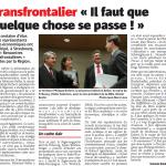 Rencontres transfrontalières : articles de presse