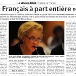 «Français à part entière» par Bornia Tarall