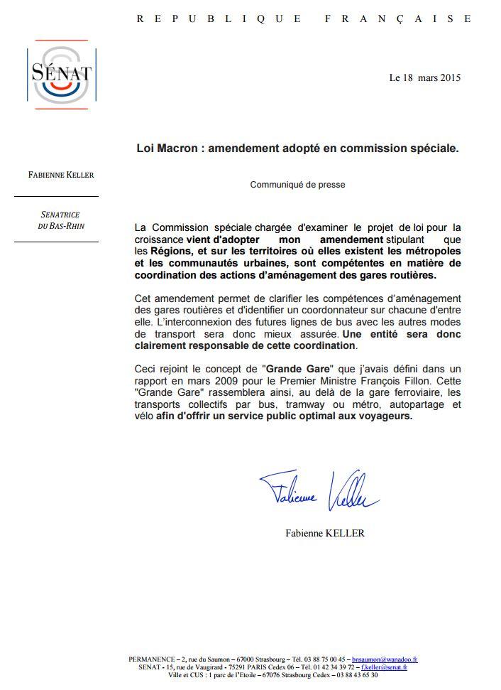 Loi Macron amendement